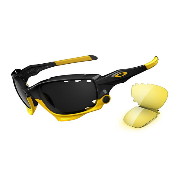 black and yellow oakley sunglasses  image of oakley livestrong jawbone sunglasses polished black (frame) / black iridium vented
