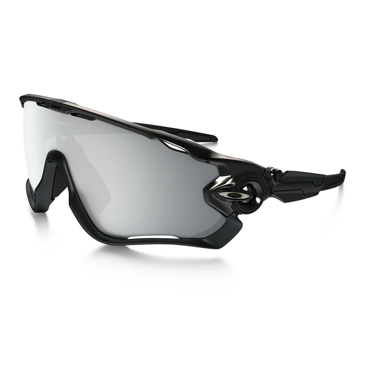 Oakley Jawbreaker Men\'s Sunglasses - Polished Black Frame / Chrome ...