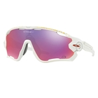 Image of Oakley Jawbreaker Prizm Road Tour De France Edition Sunglasses - White Frame/PRIZM Road Lens