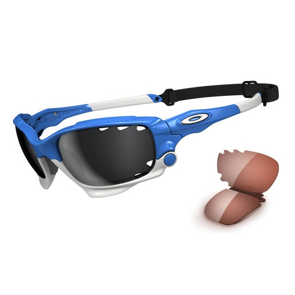 blue and white oakley sunglasses 1kj9  Image of Oakley Racing Jacket Men's Polarised Sunglasses