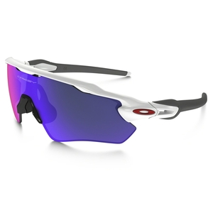 Image of Oakley Radar EV Path Sunglasses - Polished White Frame/Positive Red Iridium Lens