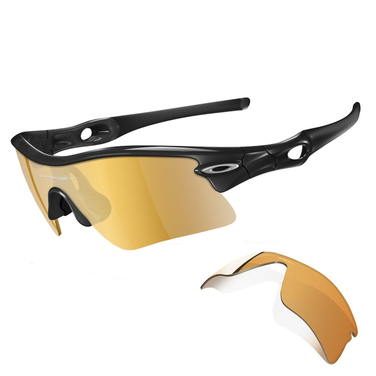 oakley radar sunglasses  Oakley Radar Range Men\u0027s Sunglasses - Jet Black Frame Plus Gold ...