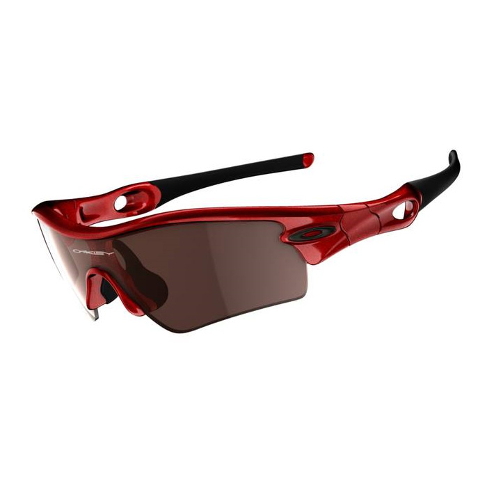 red and black oakleys  Oakley Radar Path Sunglasses - Metallic Red (Frame)/VR28 Black ...