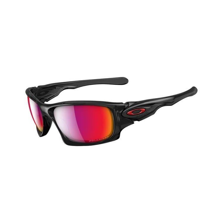 red and black oakleys  Oakley Tens Men\u0027s Polarised Sunglasses - Black Ink / OO Red ...
