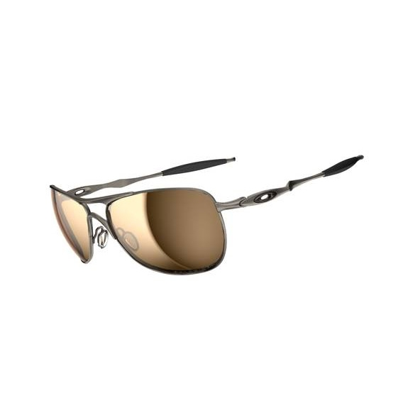 Image of Oakley Titanium Crosshair Men's Polarized Sunglasses - Titanium / Tungsten  Iridium Polarized