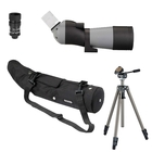 Opticron IS 60 ED WP Angled Spotting Scope with HR2 16-48x Eyepiece, WP Case, Velbon Sherpa 200R Tripod