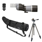 Opticron IS 60 ED WP Straight Scope with HR2 16-48x Eyepiece, WP Case, Velbon Sherpa 200R Tripod