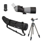Opticron IS 60/45 WP Angled Spotting Scope with IS 18-54x Eyepiece, Waterproof Case, Velbon Sherpa 200R Tripod