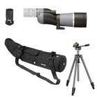 Opticron IS 60 WP Straight Spotting Scope with IS 18-54x Eyepiece, Waterproof Case, Velbon Sherpa 200R Tripod