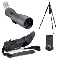 Opticron IS 70 R Angled Spotting Scope with 20-60x Eyepiece, XFS-C Traveller Tripod with PH157QK Head
