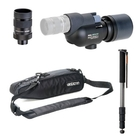 Opticron MM2 52 Straight Spotting Scope with 13-39x HR Eyepiece, Soft Case & Traveller Carbon Monopod