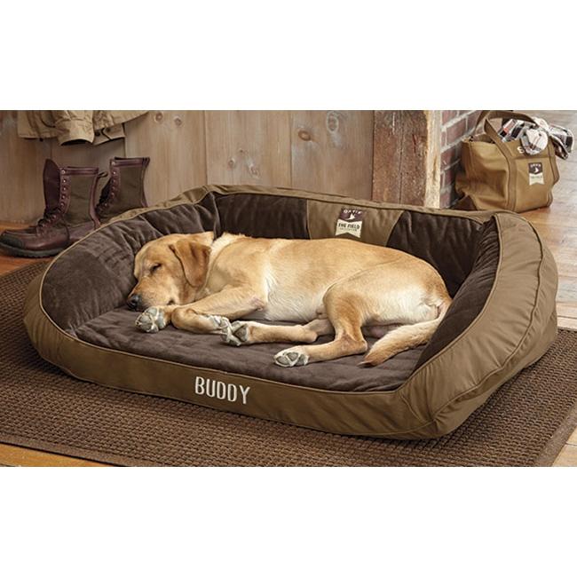 orvis deep dish dog field collection bed dark khaki. Black Bedroom Furniture Sets. Home Design Ideas