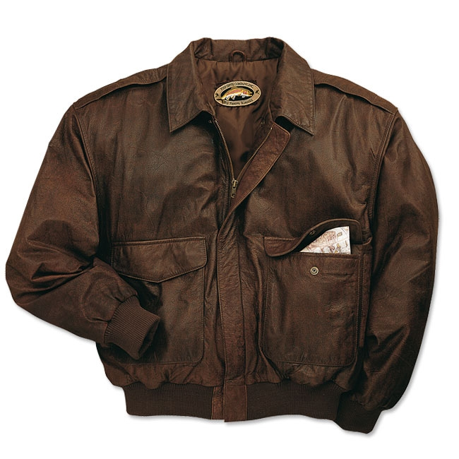 Orvis Leather Bomber Jacket - Brown | Uttings.co.uk