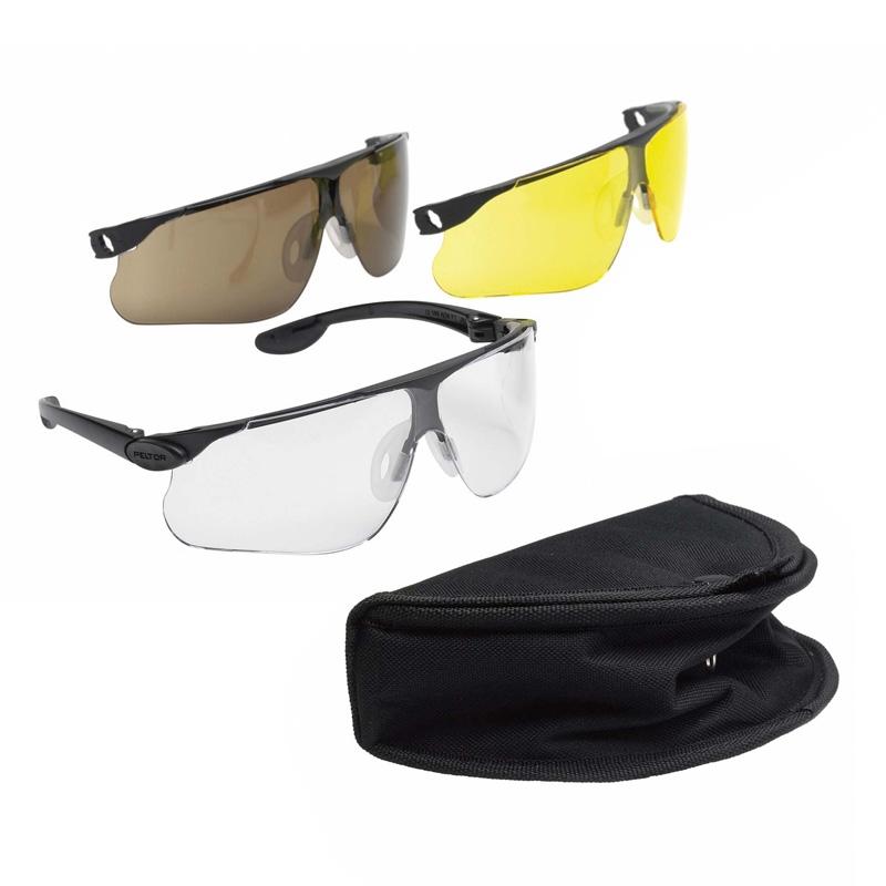 peltor maxim ballistic tac pac shooting glasses boxed set