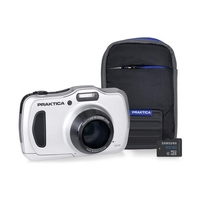 Praktica Luxmedia WP240 20MP Camera Kit With 16GB MicroSD Card And Case