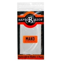 RaptoRazor Mako Spare Blades - 5 Pack