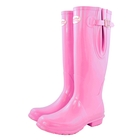 Image of Rockfish Original Tall Gloss Wellington Boots - Adjustable  (Women's) - Supapink