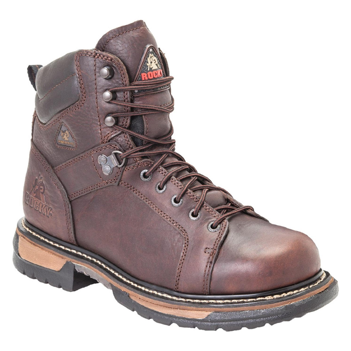 Rocky Ironclad 8 Inch WP Leather Lace to Toe Boots - Brown ...