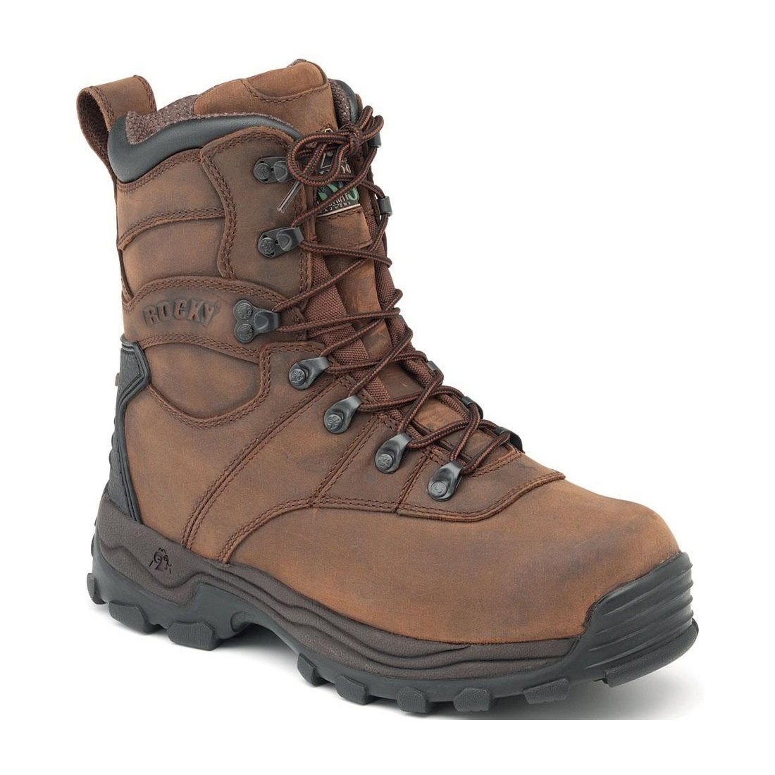 Rocky Sport Utility 8 Inch WP Boots - Brown | Uttings.co.uk