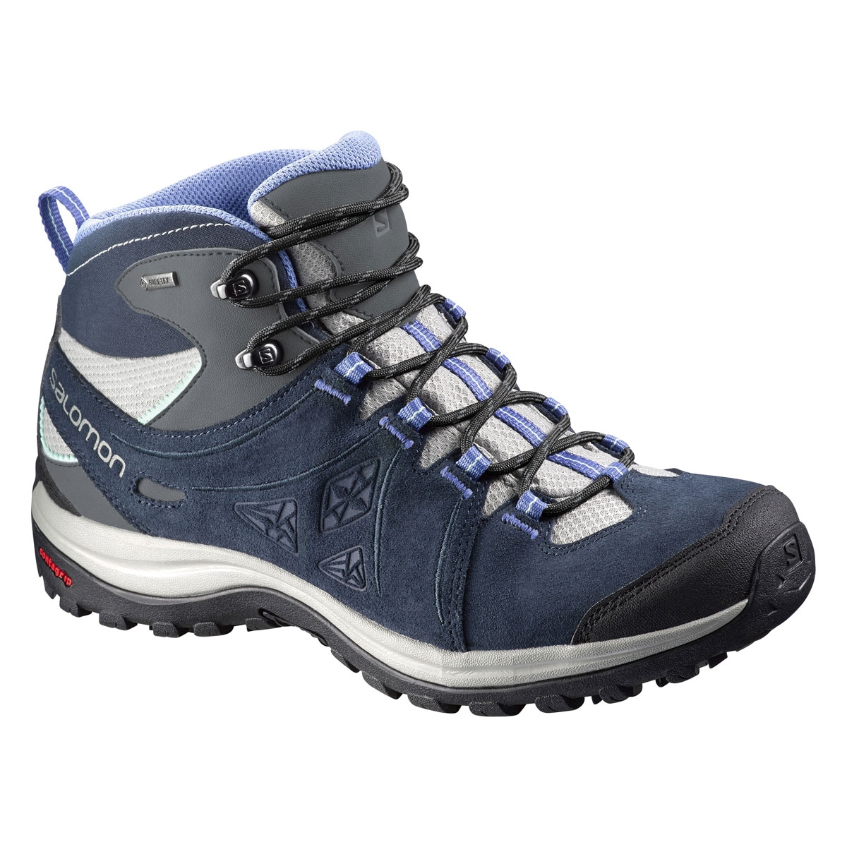 ... Deep Blue / Petunia Blue. Image of Salomon Ellipse 2 Mid LTR GTX Lady Walking  Boots (Women's) - Titanium