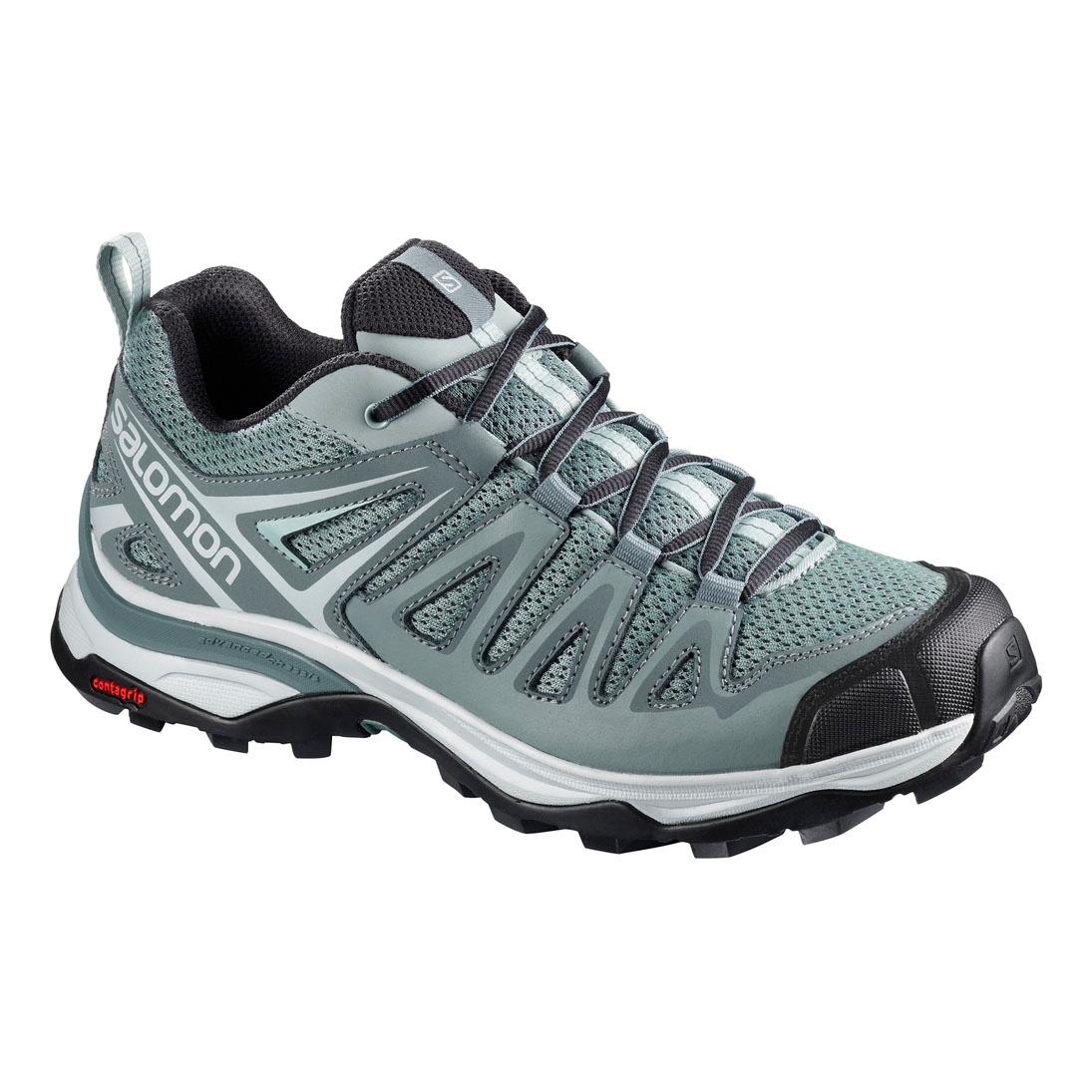 Image of Salomon X Ultra 3 Prime GTX Walking Shoes (Women's) - Lead/ ...