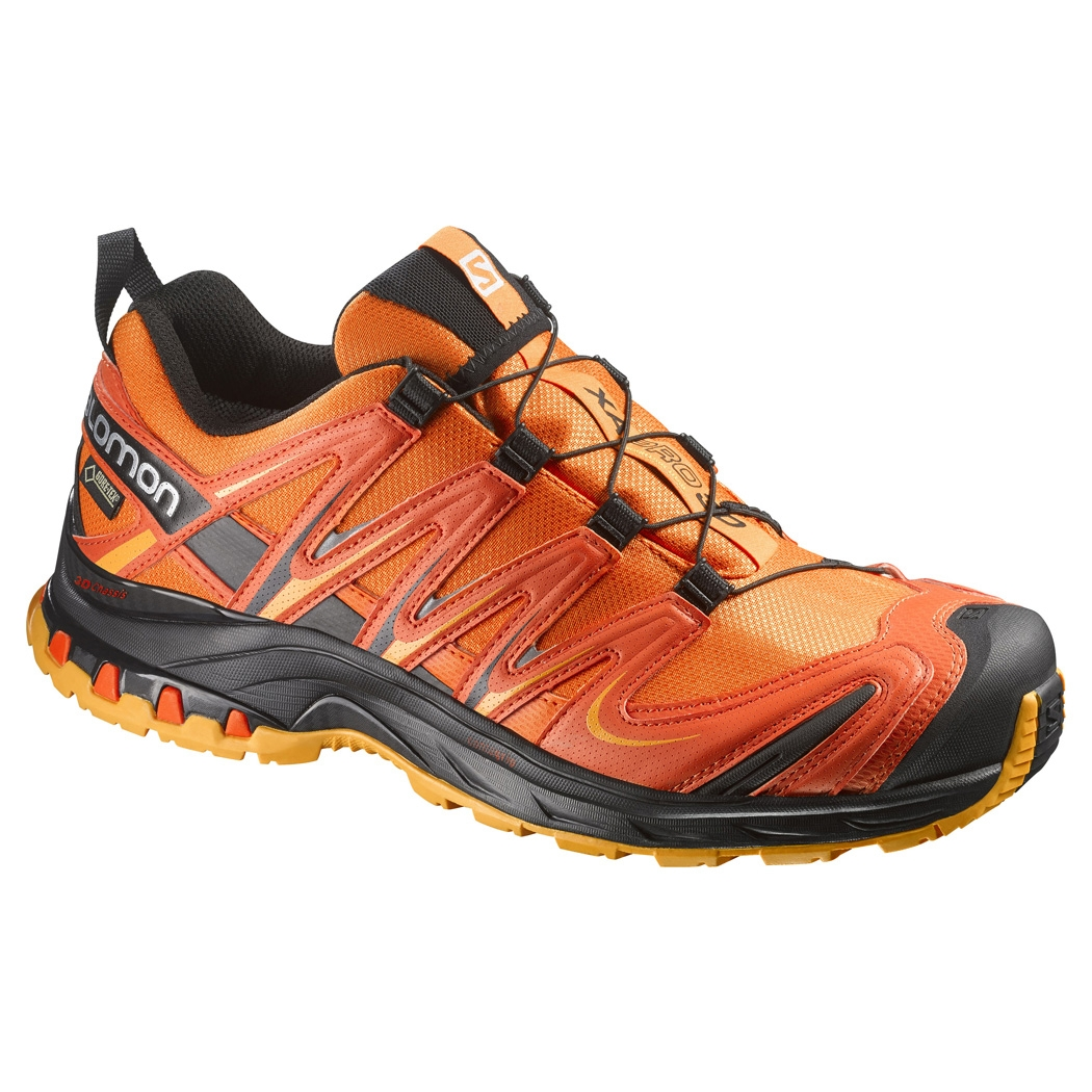 salomon xa pro 3d gtx walking shoes men 39 s clementine red yellow gold. Black Bedroom Furniture Sets. Home Design Ideas