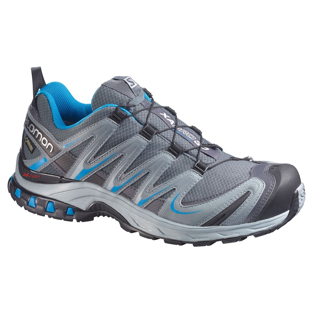 salomon xa pro 3d gtx walking shoes men 39 s dark cloud light onyx methyl blue. Black Bedroom Furniture Sets. Home Design Ideas