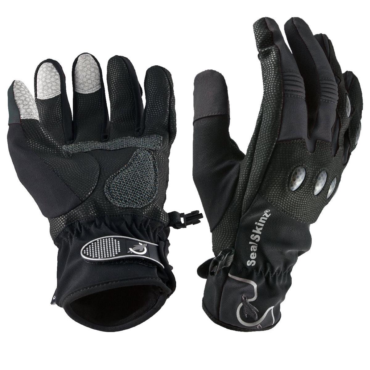 Motorcycle gloves large - Image Of Sealskinz Lightweight Motorcycle Gloves Black Grey
