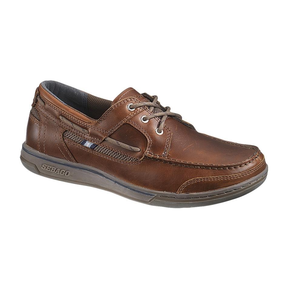 Image of Sebago Triton Three-Eye Shoe (Men's) - Brown Oiled/Dark