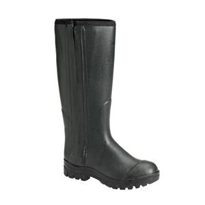 Image of Seeland Allround 18 Inch 4mm Neoprene Side-Zip Wellington Boots - Dark Green