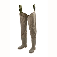 Snowbee 210D Wadermaster Nylon/PVC Thigh Waders - Combi Felt Sole