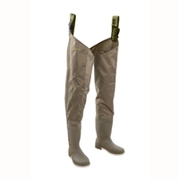 Snowbee 210D Wadermaster Nylon/PVC Thigh Waders - Cleated Sole