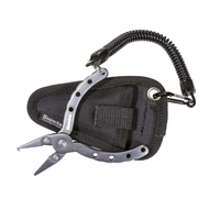 Snowbee 4.5in Aluminium Pliers with Split Ring Hook, Lanyard & Pouch
