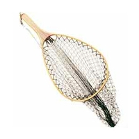 Snowbee Bamboo Frame Hand Trout Net - 15x11 Inch