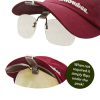 Snowbee Cap Peak Clip-On Magnifier Lenses
