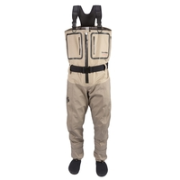 Snowbee Geo-5 Breathable Zip Front Stocking Foot Chest Waders (Save £150)