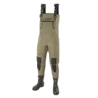 Snowbee Granite 4mm Neoprene Bootfoot Chest Waders - Cleated Sole
