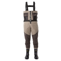 Snowbee Prestige ST Breathable Bootfoot Zip Front Combi-Felt Sole Chest Waders