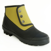 Spats Ankle Plain Craze 2 Tone Rubber Boots (Women's)