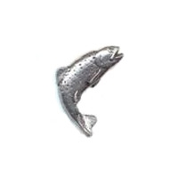 A R Brown Trout Pewter Pin Badge