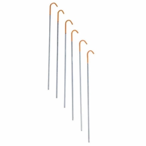 Image of Terra Nova Titanium 1g Skewer Tent Pegs (6 pack) - Orange / Grey