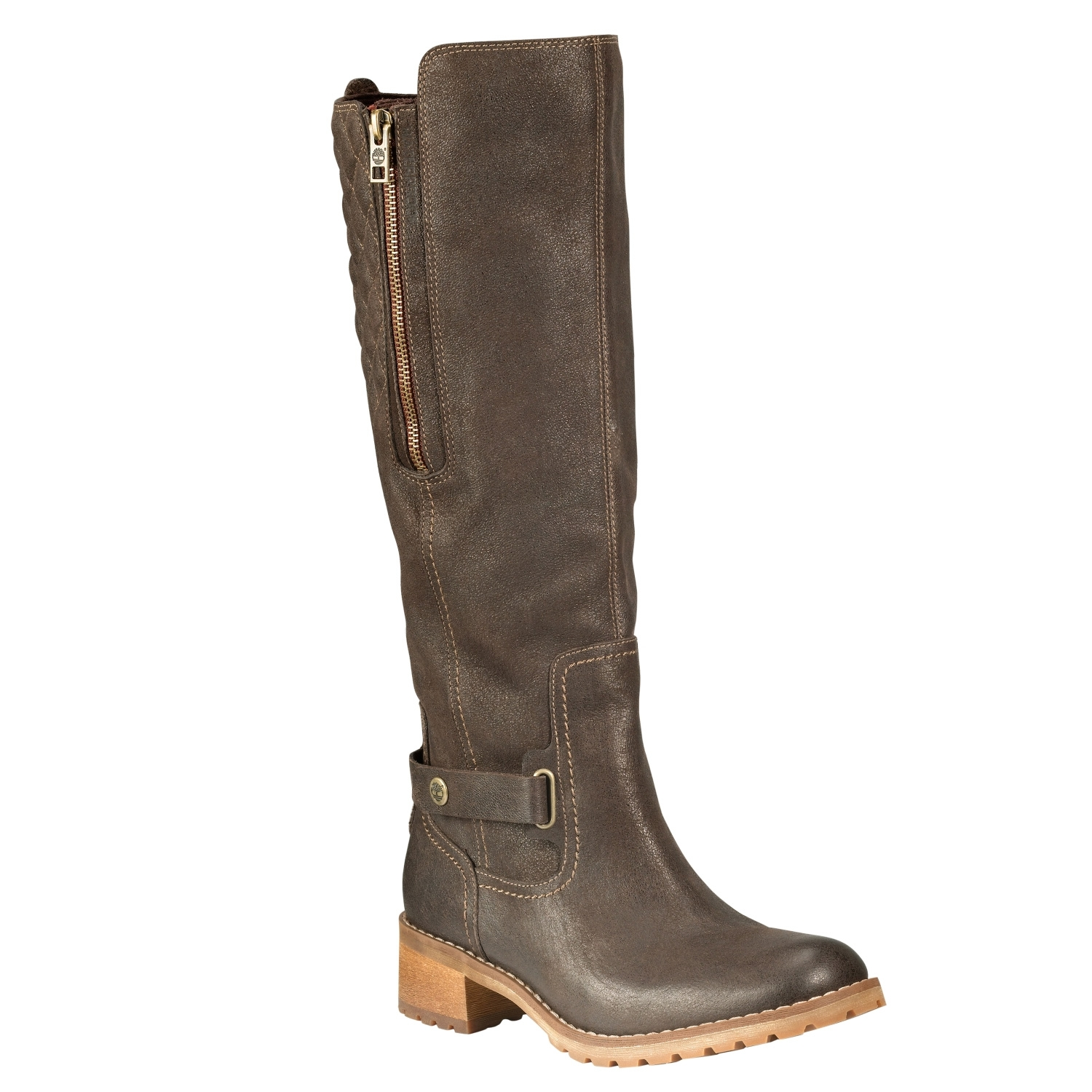 Image of Timberland Apley Tall Waterproof Boot (Women's) Dark Brown