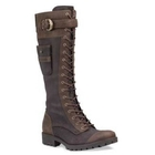 Image of Timberland Earthkeepers Atrus Rugged Snap Tall Zip Boot - Dark Brown