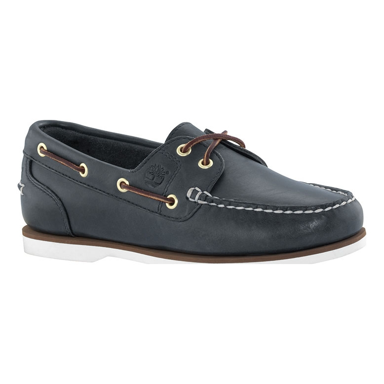 Image of Timberland Classic 2 Eye Boat Shoes (Women's) - Navy Smooth ...