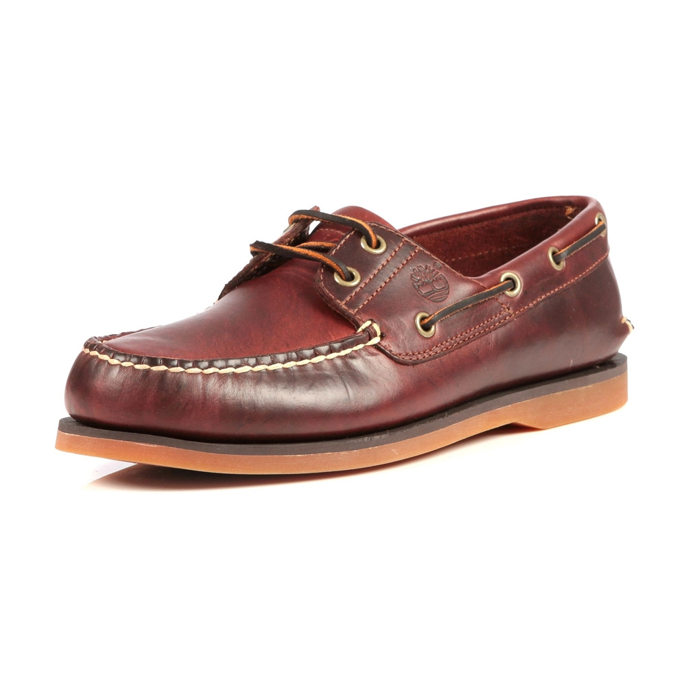 timberland classic 2 eye boat shoe s rootbeer