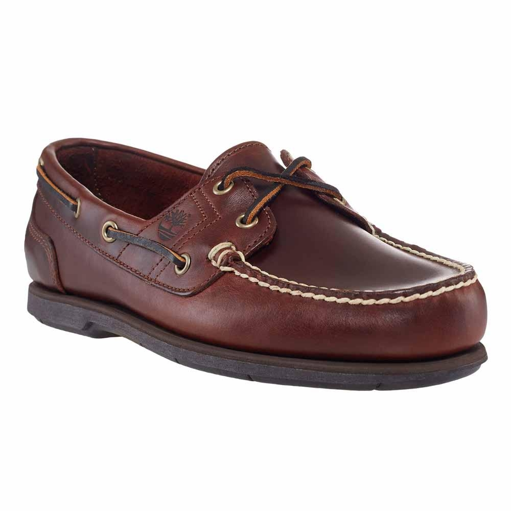 Image of Timberland Classic 2 Eye Boat Shoe (Men's) - Rootbeer/Smooth Brown