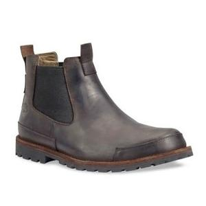 Image of Timberland Earthkeepers Original Chelsea Mens Casual Boot (Men's) - Dark Brown Burnished Oiled Nubuck