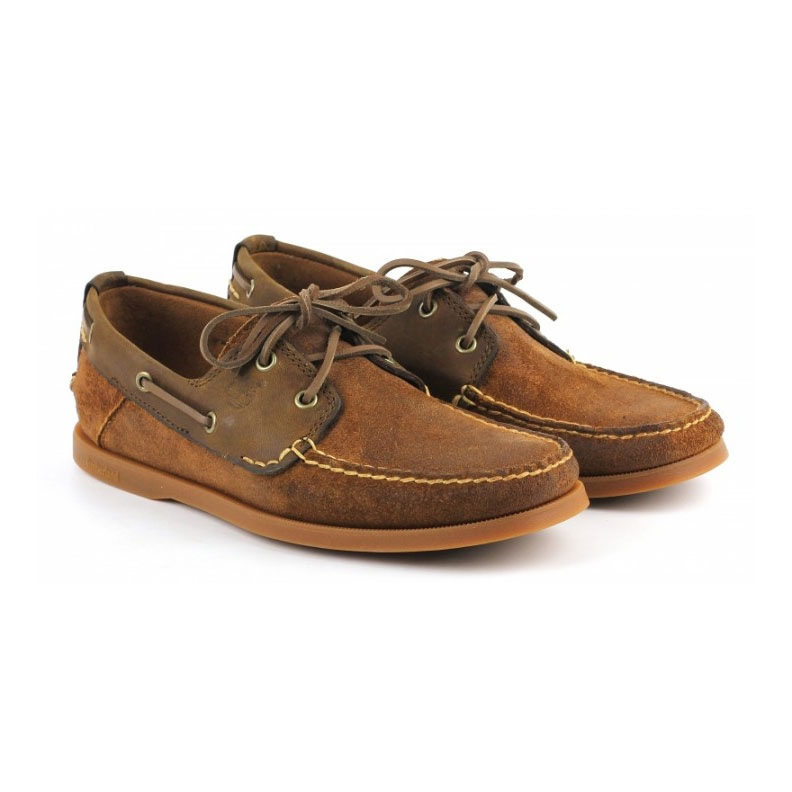 Timberland Earthkeepers Heritage Boat 2-Eye Boat Shoe (Men's) - Rust Roughcut Exclusive  Counter Gen