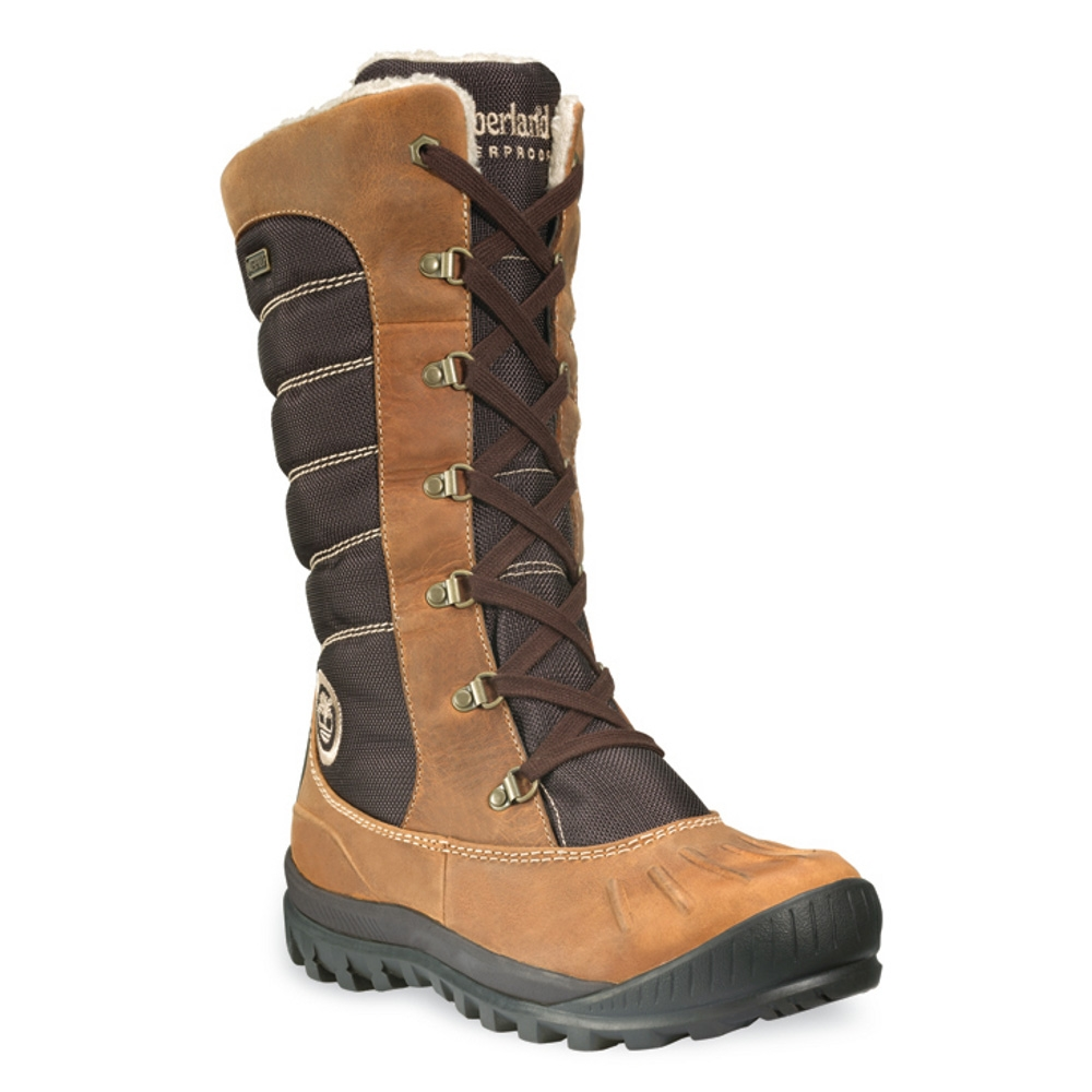 Image of Timberland Earthkeepers Mount Holly Tall Lace Duck Boot (Women's) Burnt Orange