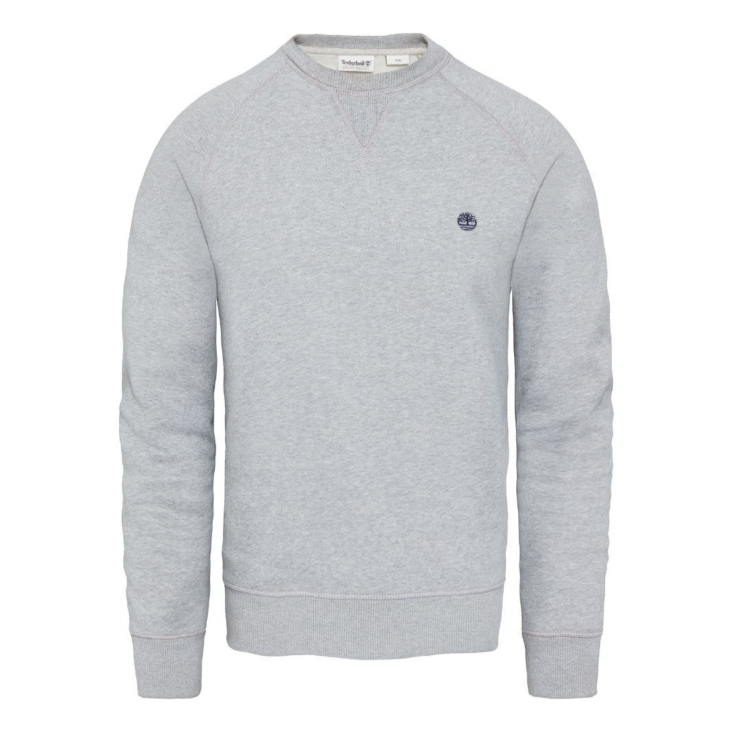 Image of Timberland Exeter River Basic Crew Sweatshirt (Men's) - Medium  Grey Heather ...
